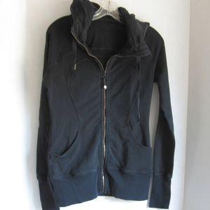 LULULEMON SCUBA HOODIE Sz 6 Black Full Zip/Hood